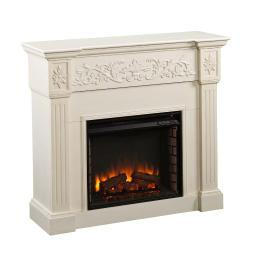 Holly & Martin Huntington Electric Fireplace, IVORY