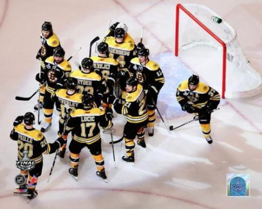 The Boston Bruins Celebrate Winning Game 6 of the 2011 NHL Stanley Cup Finals Photo Print 6J73OG0N1U83E9WQ