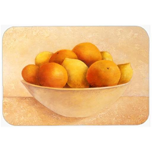 Carolines Treasures BABE0085LCB Oranges & Lemons in a Bowl Glass Large Cutting Board
