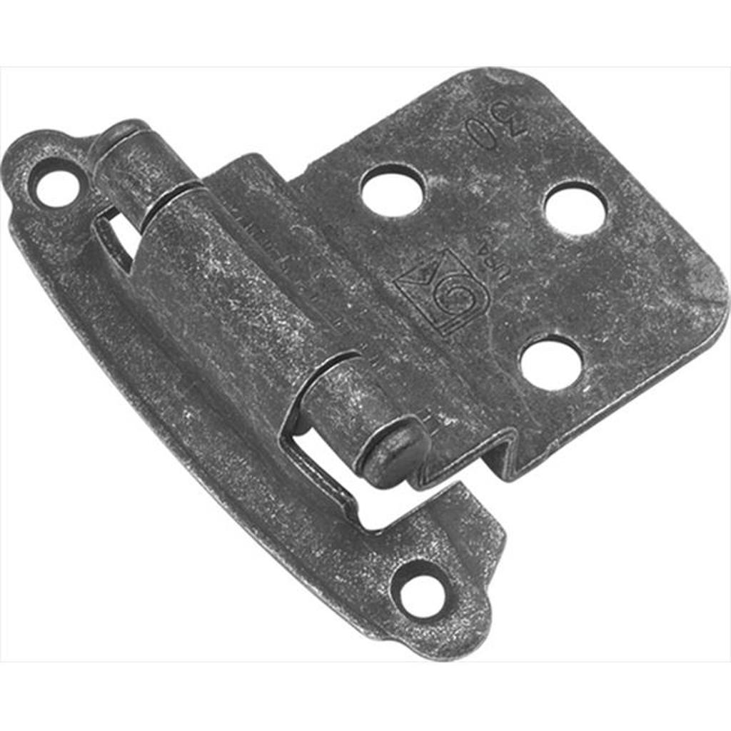 Hickory Hardware P243-VP Vibra Pewter Surface Self-Closing 0.37 In. Offset Hinge 2-Pack