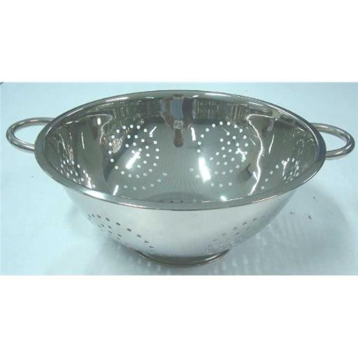 American Trading House T-1337 Gourmet Chef 3 Qt. Stainless Steel Deep Colander With Pipe Handles