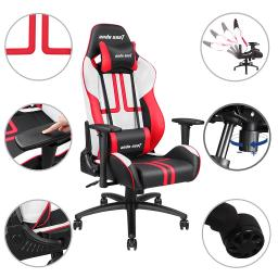 Anda Seat Ergonomic Racing Chair Gaming Tilt Adjustable Swivel High-back Office w/ Headrest & Lumbar Cushion Office