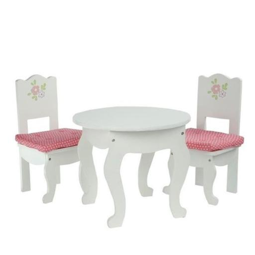 Teamson Design Corp TD-0208A Little Princess Doll Furniture - Table & 2 Chairs Set, 18 in.