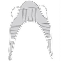 Padded Patient Lift U Sling with Head Support - Extra Large