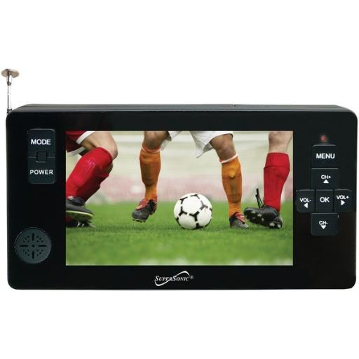 Supersonic(r) sc-143 4.3 portable digital led tv with usb & microsd(tm) card inputs