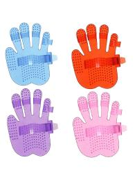 Tough-1 Curry Comb Soft Finger Jelly Hand Shape Massage 68-24470 68-24470