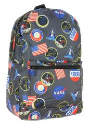 Nasa Backpack Logo Patches or Astronaut Print