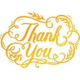 """Ultimate Crafts Classic Sentiments Hotfoil Plate 3.5""""X2.5"""" Thank You"""