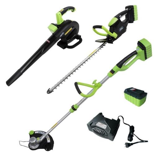 ALEKO AGTHTLB36V-UNB Leaf Blower, String Grass Trimmer, Hedge Trimmer NIZN Combo Kit