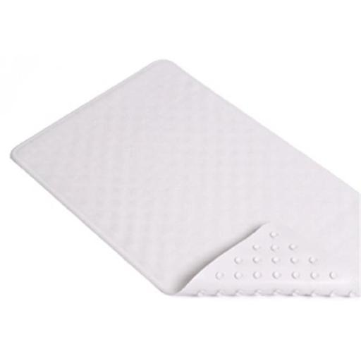 Kittrich BMAT-C4K04-04 16 x 28 in. White Shells Rubber Bath Mat