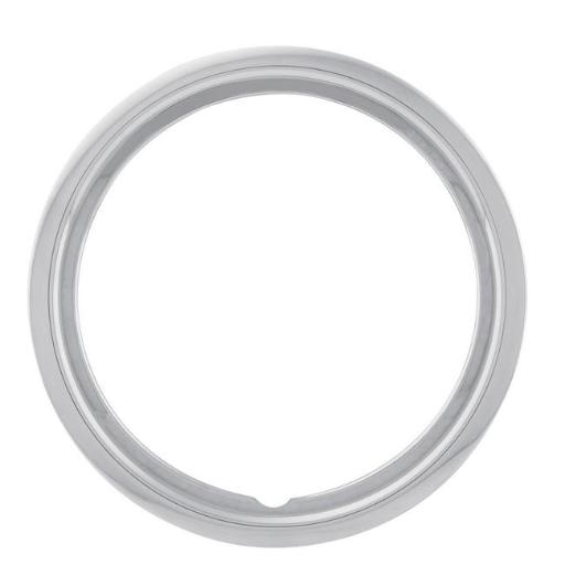 U.S. WHEEL USW-RSS300115T 15 ft. Stainless Steel 3.0 in. Wheel Trim Ring, Chrome