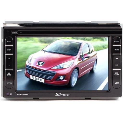 XO Vision XOD1764NAV 7 in. Double DIN Touch Screen Receiver with GPS