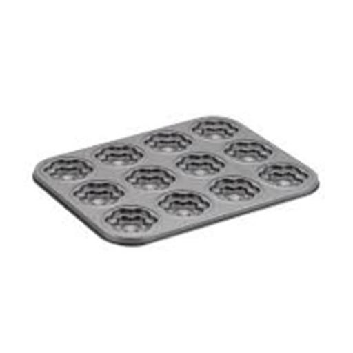Cake Boss 59407 Novelty Nonstick Bakeware 12-Cup Flower Molded Cookie Pan, Gray