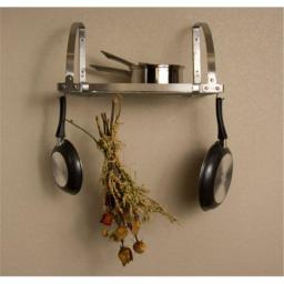 Advantage Components SWR2001 Expandable Wall Mount Pot Rack / Shelf  Stainless Steel