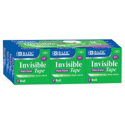 Bazic products 2 pk bazic tape refill invisible 906bn