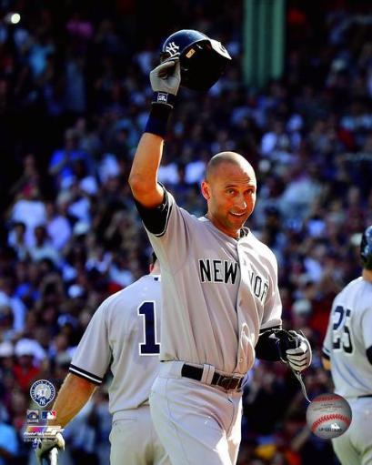 Derek Jeter leaves the field for the last time in his final game- September 28, 2014 at Fenway Park Photo Print