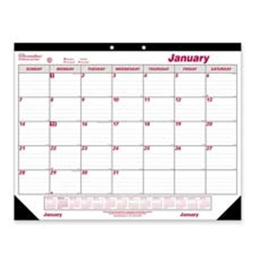 Rediform Office Products REDC1731 Desk Calendar- Monthly- 12 month- Jan-Dec- 22in. x17in.