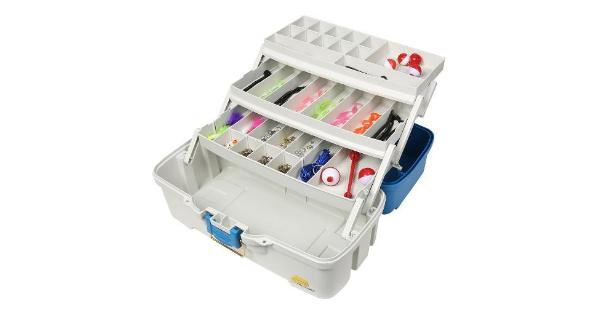 Plano ready set fish three tray tackle box