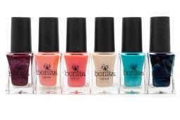 Bonita Salon Nail Lacquer set of 6: 296 Rembrandt's Muse, 299 The Kiss, 283 Team Pink, 502 Florence,