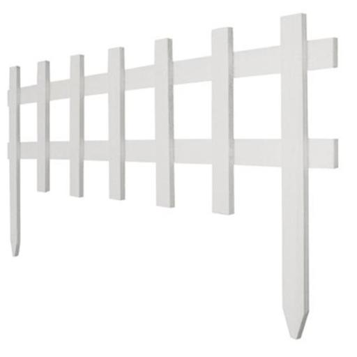 RC 75W 18 in. x 3 ft. White Deluxe Cape Cod Picket Fence