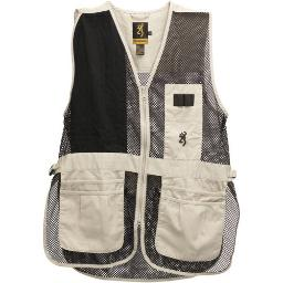 Browning 3050262802 bg shooting vest trapper creek medium rh sand/black mesh