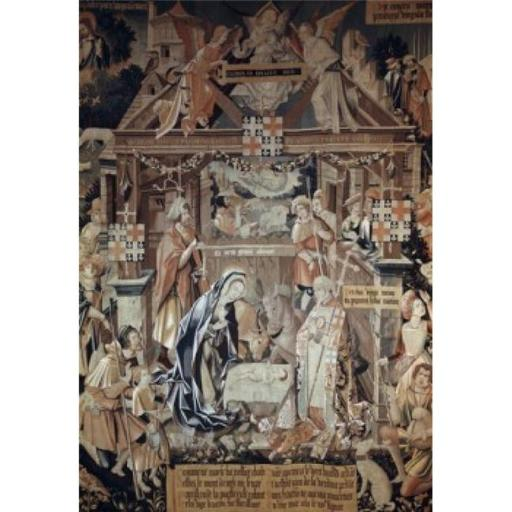 Posterazzi SAL900100603 Adoration of the Shepherds 16th Century Tapestry Textiles Flemish Poster Print - 18 x 24 in.