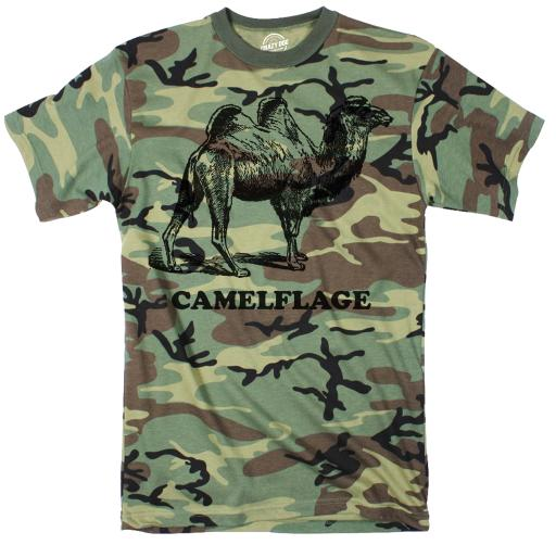 Camo Camelflage Tshirt Funny Sarcastic Army Tee For Guys