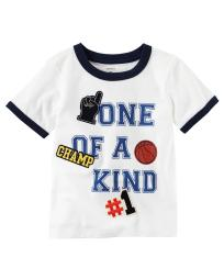 Carter's Little Boys' One Of A Kind Ringer Tee, 3-Toddler