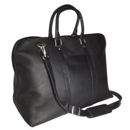 Royce Leather VLDB-BLK Vaquetta Gateway 25 Inch Duffel Bag, Black