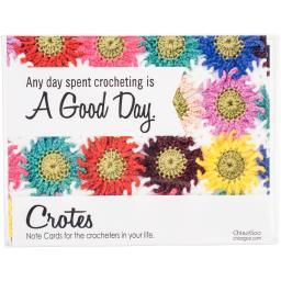 Crochet Note Card Set 8/Pkg-Crotes