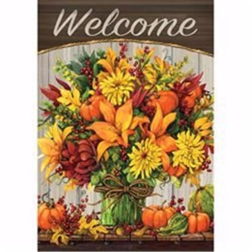 Carson Home Accents 142101 12.5 x 18 in. Fabulous Fall Flowers Garden Flag