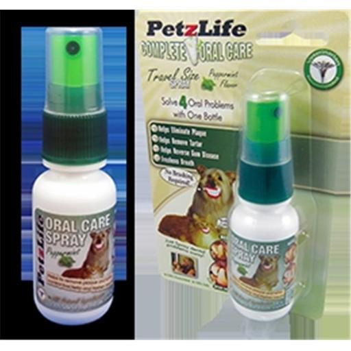 PetzLife 000620 Complete Oral Care Peppermint Spray, 1 Oz