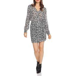 1.State Womens Floral Long Sleeve Wrap Dress