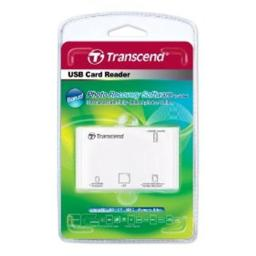 Transcend TS-RDP8W P8 19-In-1 USB Multi Card Reader With Free Photo Recovery Software - White
