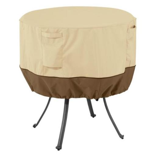 Classic Accessories 55-569-011501-00 Rnd Table Cover, Pebble