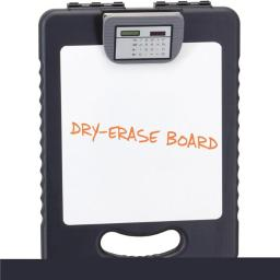 OIC OIC83317 16.1 x 11.8 x 1.7 in. Deluxe Tablet Storage Clipboard with Calculator & Dry Erase, Charcoal