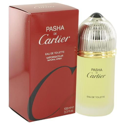 3 Pack PASHA DE CARTIER by Cartier Eau De Toilette Spray 3.3 oz for Men Launched by the design house of Cartier in 1992, Pasha De Cartier is classified as a sharp, spicy, lavender, amber fragrance. This masculine scent possesses a blend of mint, citrus, wood, musk and amber. It is recommended for daytime wear.