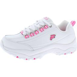 Fila Womens Proficient Faux Leather Sneakers Running Shoes