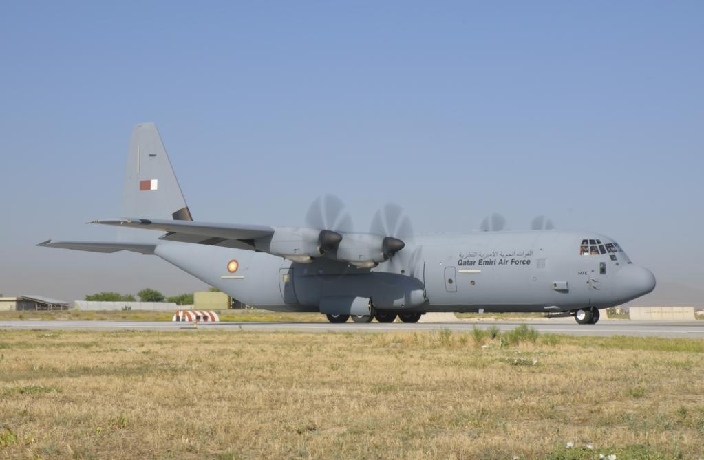 A Qatar Emiri Air Force C-130J during Exercise Anatolian Eagle at Konya Air Base, Turkey Poster Print