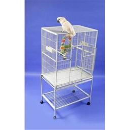 a-e-cages-ae-13221p-wrought-iron-flight-cage-platinum-f2f0b2744a4f5f53