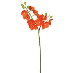 Vickerman FA171903 Real Touch Orchid-2 Branch 11 Heads Floral Stem, Orange