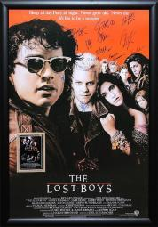 Lost Boys - Signed Movie Poster in Wood Frame with COA
