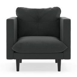 NyeKoncept 50180601 Cross Weave Beckham Armchair, Raven Gray & Black