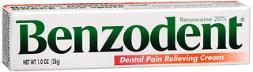 Benzodent Dental Pain Relieving Cream - 1 Oz, Pack Of 3