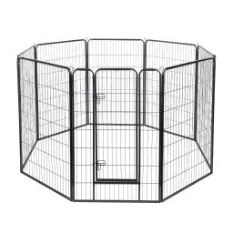 "Yescom 8 Pieces 31""x47"" Pet Playpen Extra Large Dog Exercise Fence Panel Crate Camping"