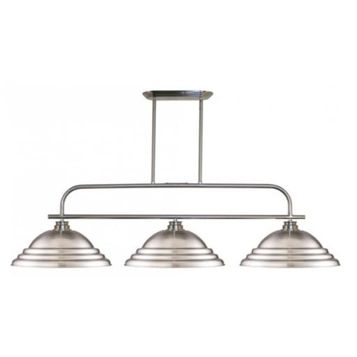 Zlite 437-3BN-SBN Annora 3 Light Island & Billiard Light in Brushed Nickel with Stepped Brushed Nickel Shade