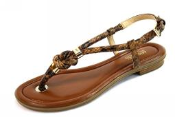 Michael Kors Womens Holly Sandal Leather Open Toe Casual Slingback Sandals
