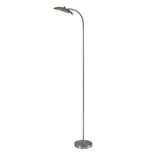 Kenroy Home 32949BS 10 x 66 in. Cheshire Torchiere Floor Lamp - Brushed Steel
