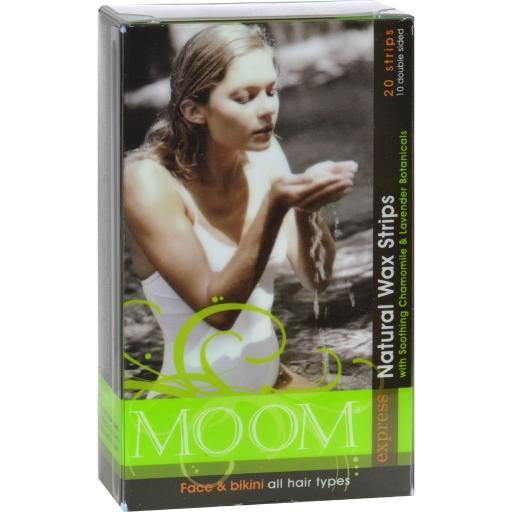 Moom Natural Wax Strips With Soothing Chamomile And Lavender - 20 Strips YDOPWJ2SL993IENY