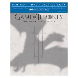 GAME OF THRONES-COMPLETE 3RD SEASON (BLU-RAY/DVD/UV/7 DISC/HBO SELECT) 883929330706